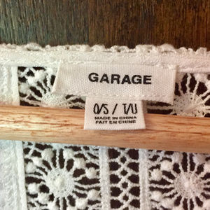 Garage Sweaters - Lace detail wrap cardigan